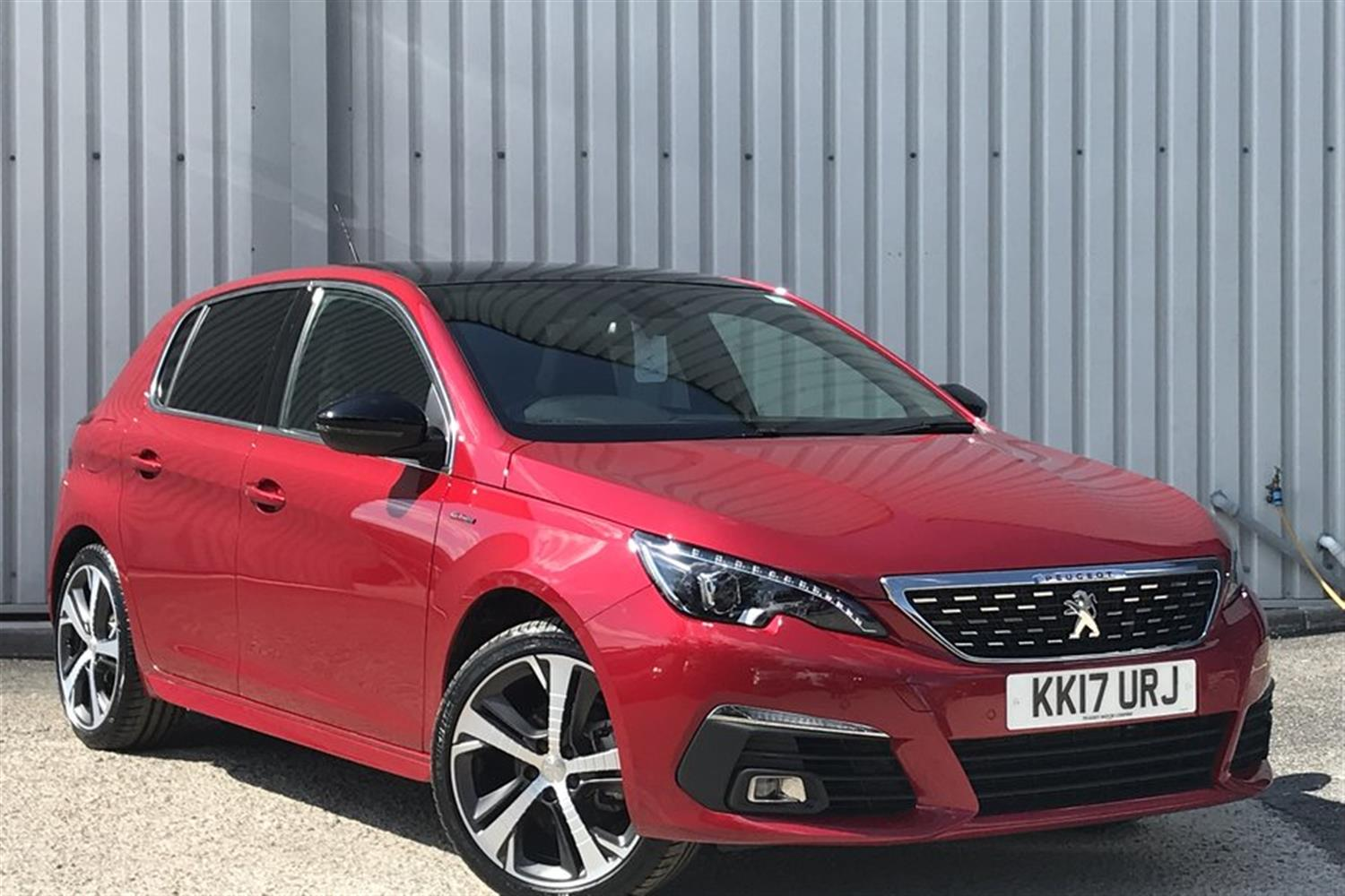 Peugeot 308 1.2 PureTech 130 GT Line (s/s) Hatchback Petrol Ultimate Red Pearlescent at Gateway Peugeot Crewe Crewe