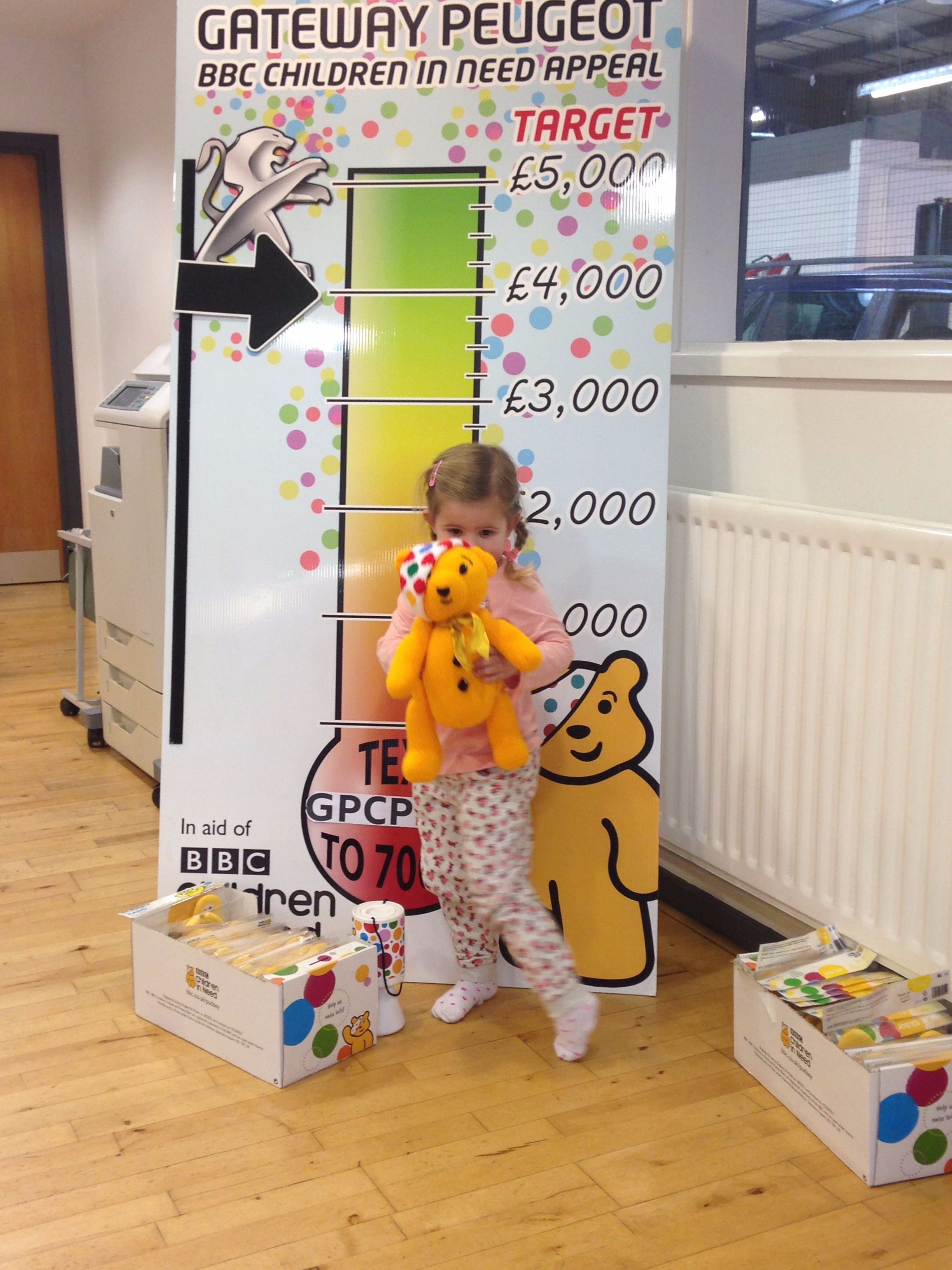 PUDSEY BEAR WINNER!!! FOR CHILDREN IN NEED