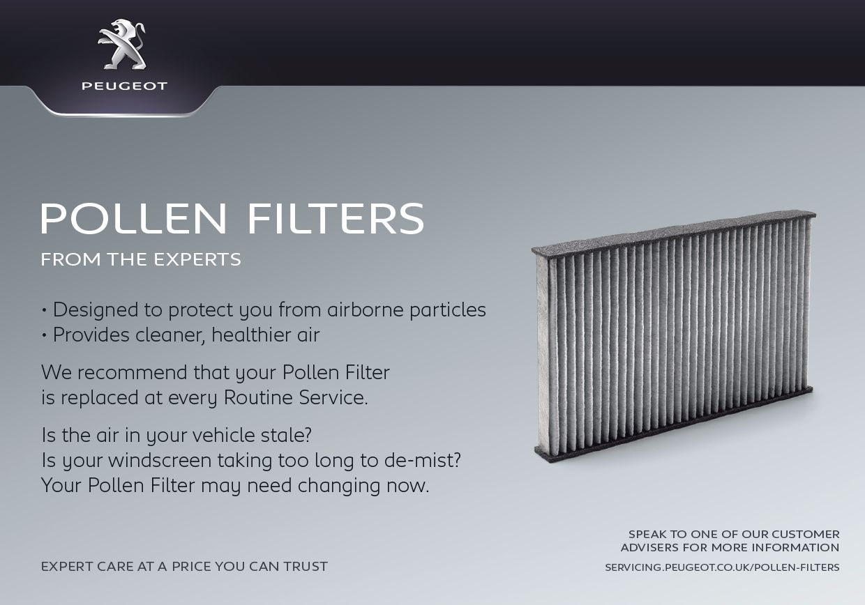 Pollen Filters from only £39.99