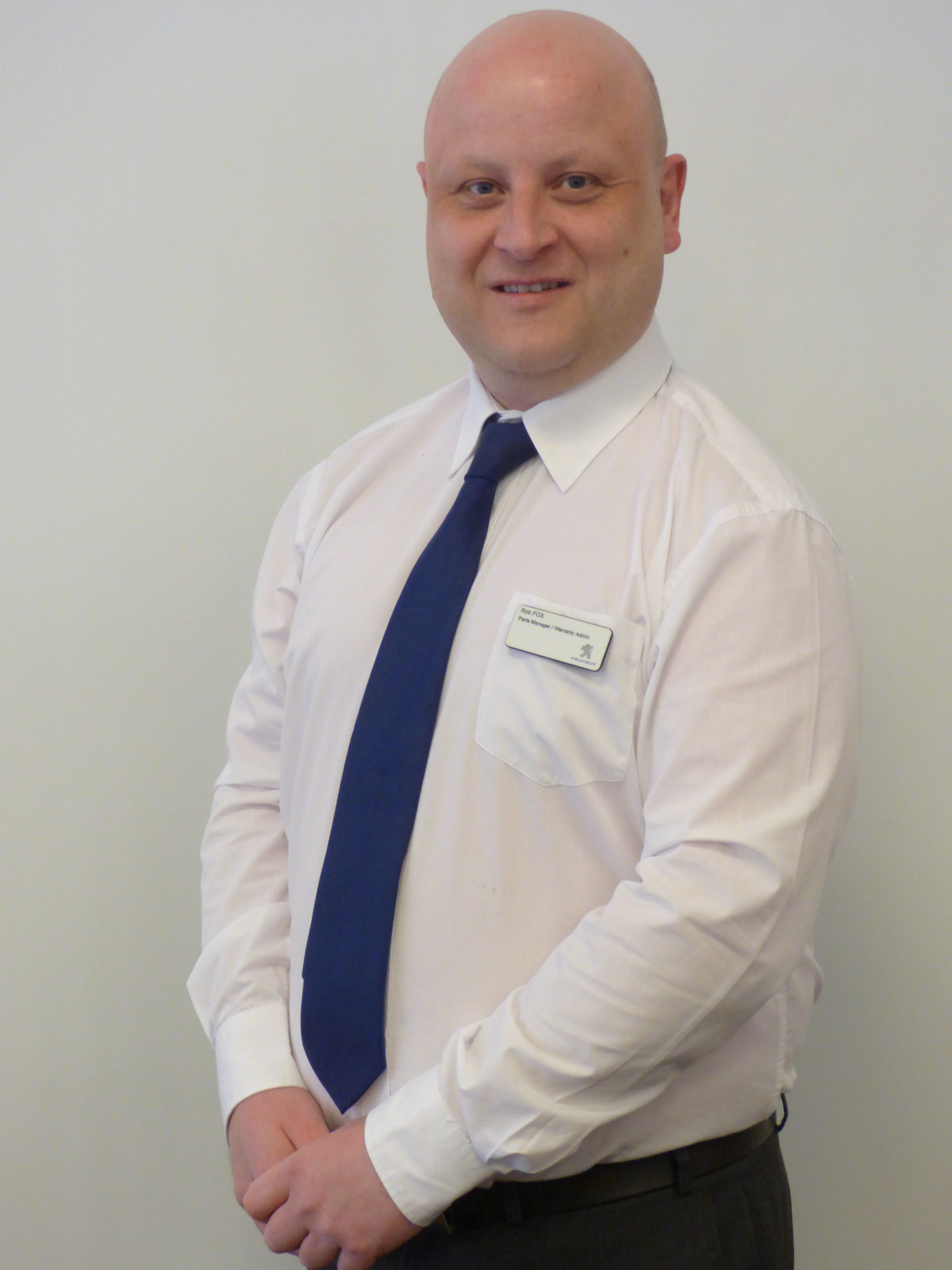 Rob Fox Our new Parts Manager