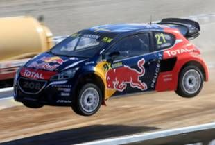 An eighth world rallycross podium finish this year for the Peugeot 208 WRX