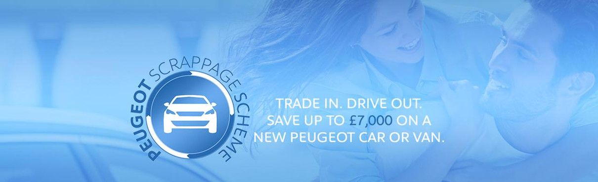 Save up to £7000 with Peugeot Scrappage